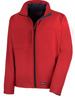 Mens Puckeridge PC red soft shell jacket