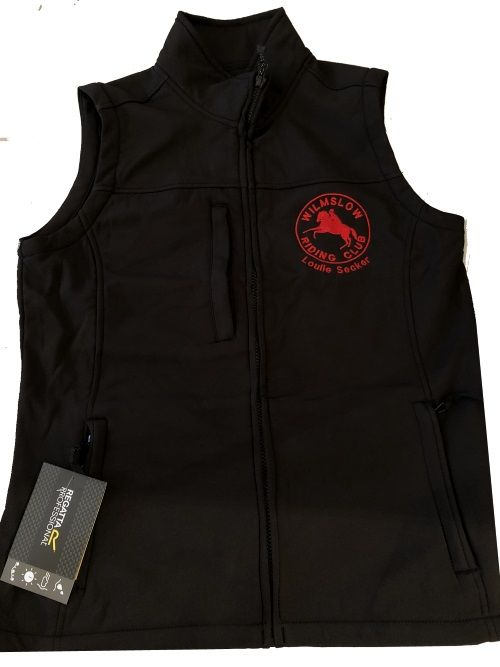 Adults Black  Wilmslow RC clothing  Soft shell Body Warmer