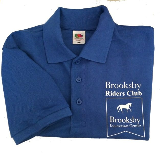 ADULT Brooksby Riders Club  Royal Polo Shirt