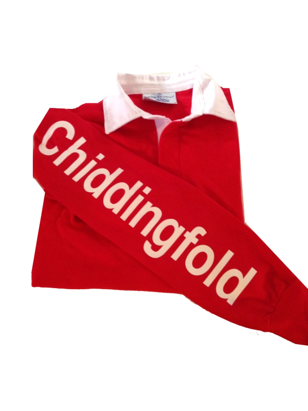 ADULT Chiddingfold Red Long Sleeved Rugby Shirt