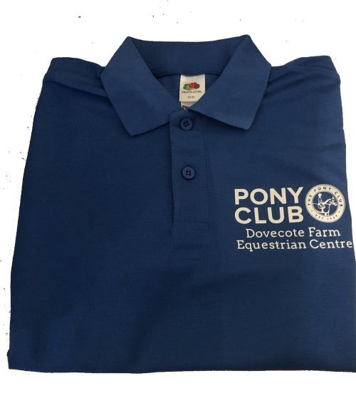 ADULT  Dovecote Farm Equestrian Centre Royal Polo Shirt