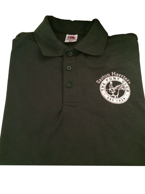 ADULT Easton Harriers Pony Club  Bottle Polo Shirt