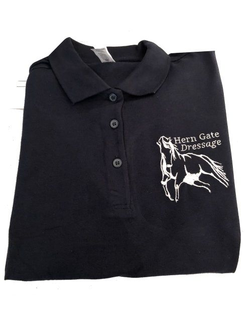 ADULT Hern Gate Dressage Navy Polo Shirt BA301