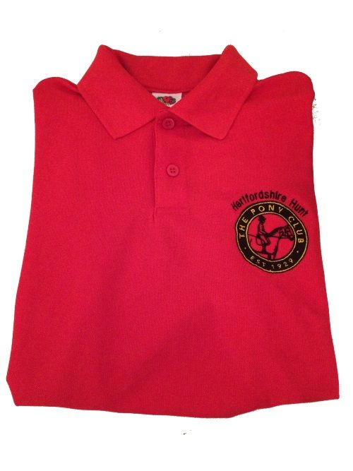 ADULT Herts Hunt Red  Polo Shirt