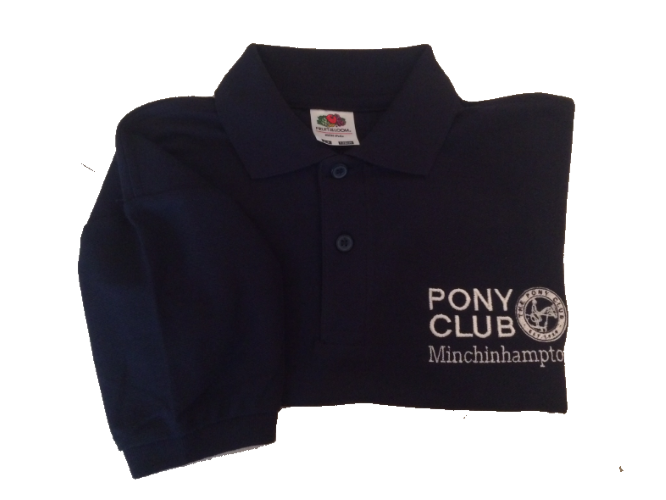 ADULT Minchinhampton Pony Club Navy Polo Shirt