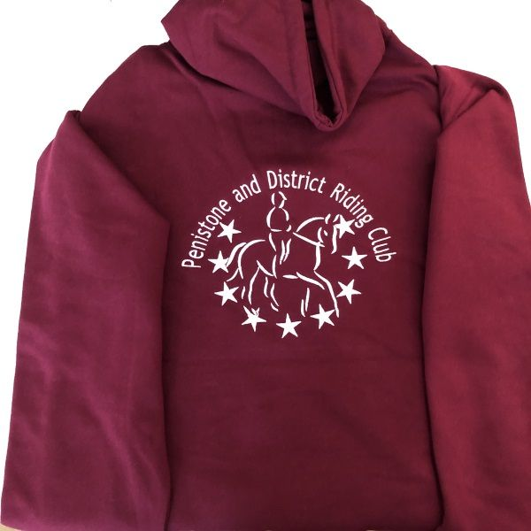 Adult Penistone and District Riding Club Burgundy Hoodie