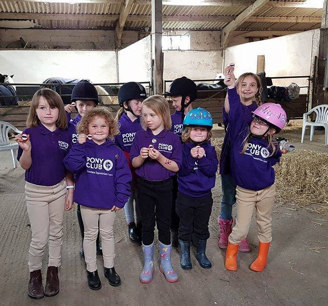 ADULT PONY CLUB Howden Equestrian Centre Purple Polo Shirt