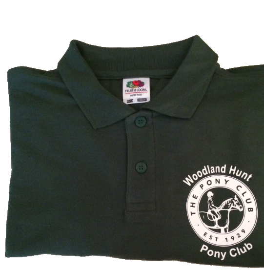 ADULT Woodland Hunt Bottle Green Polo Shirt