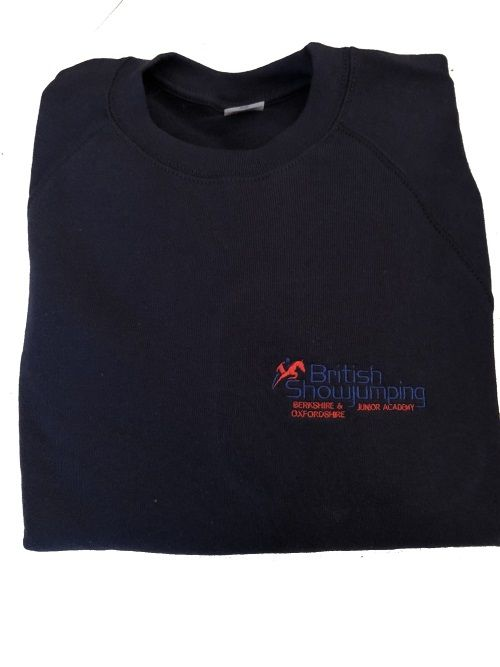Adults Berkshire and Oxfordshire Junior Show jumping Academy Navy Sweatshirt