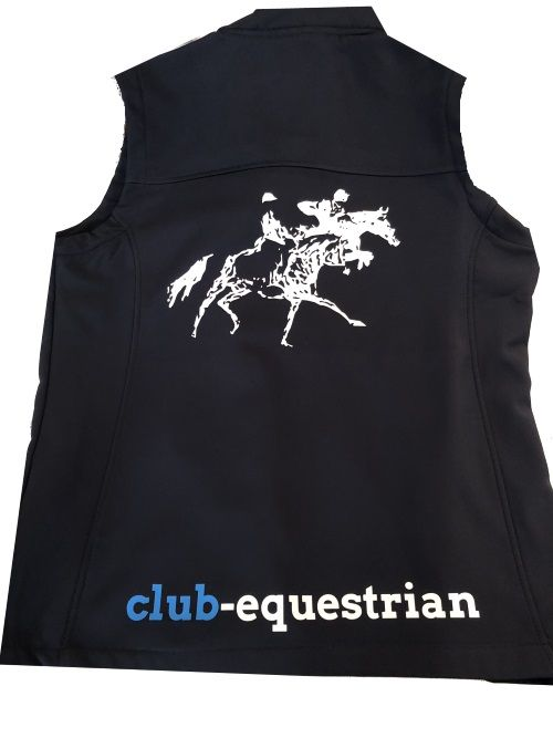 Adults Club Equestrian  Navy Soft shell Body Warmer