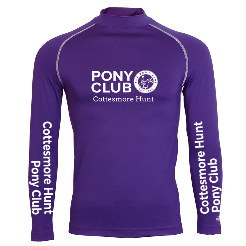 Adults Cottesmore Hunt PC Purple Base Layer