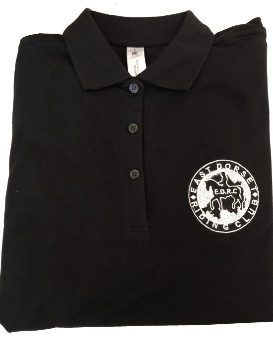 Adults East Dorset Lady's Fit Black Polo Shirts BA390