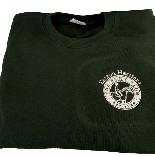 Adults Easton Harriers Bottle Green Sweatshirt