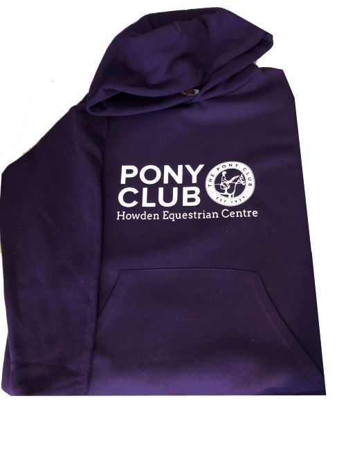 Adults Howden Equestrian Centre Purple PONY CLUB   Hoodie SS224