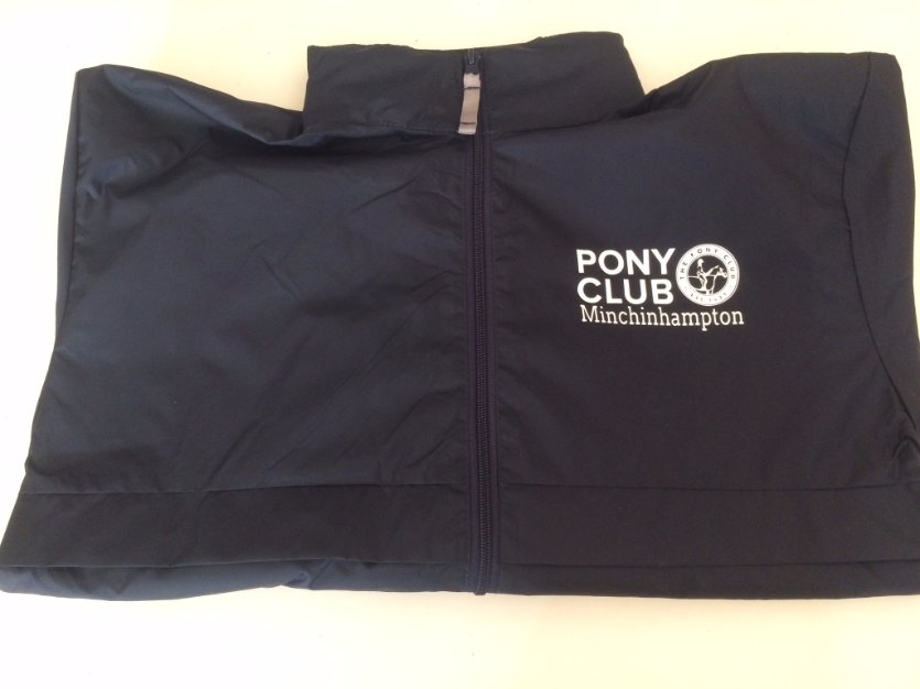 Adults Minchinhampton Pony Club Navy Showerproof Jacket