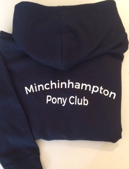 Adults  Navy Minchinhampton Pony Club Hoodie