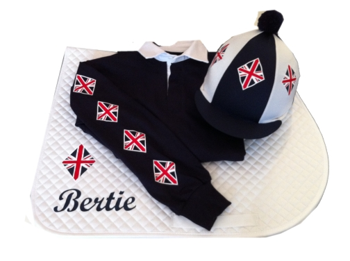 Adults Navy/White  Union Jack X Country Set