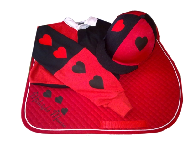 Adults Red/Black Cross Country Colours