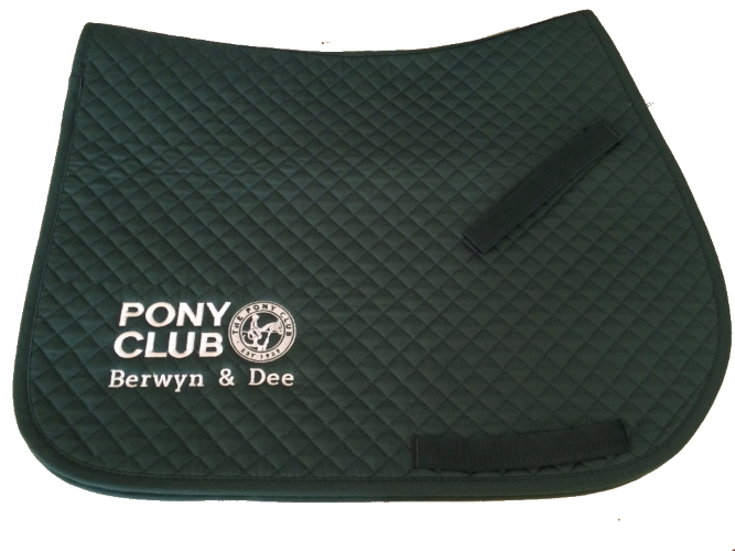 Berwyn and Dee Pony Club Embroidered Bottle Green Saddlecloth
