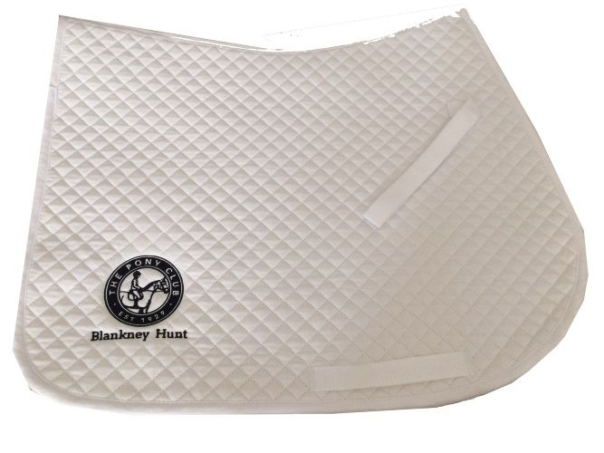 Blankney Hunt Pony Club GP White Saddlecloths