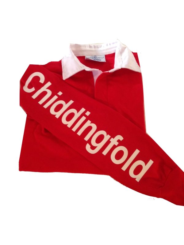 CHILD Chiddingfold Long Sleeved Red Rugby Shirt