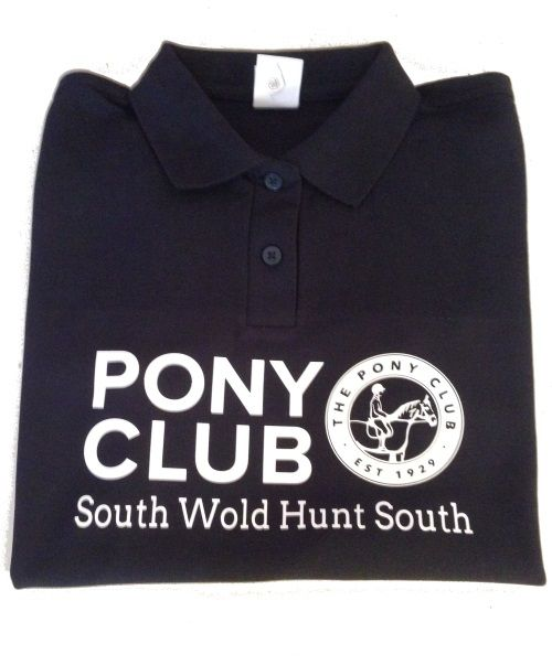 CHILD South Wold Hunt South Long Sleeve  Navy Polo