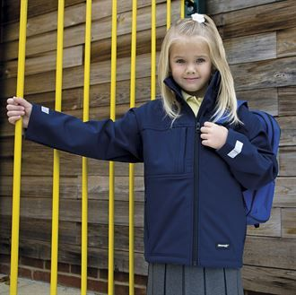 "Children's ""Castledyke Equestrian Centre"" PC Navy Classic Softshell 3 layer jacket."