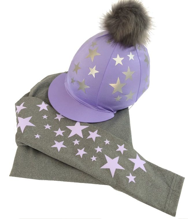 Children's Lilac/Silver Grey  Base Layer & Hat Silk