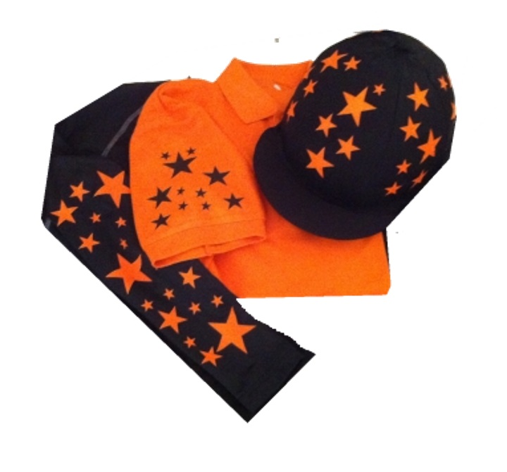 Children's Orange/Black  Base Layer, polo and silk