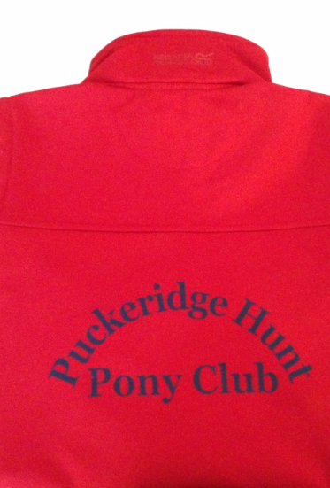 Children's Puckeridge PC RED Classic Softshell 3 layer jacket.