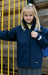 Children's Thurleigh Equestrian Centre Navy   Classic Softshell 3 layer jacket.