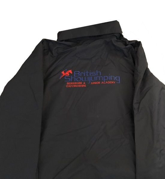 Childrens Berkshire and Oxfordshire Junior Show jumping Academy Navy Regatta Dover jacket