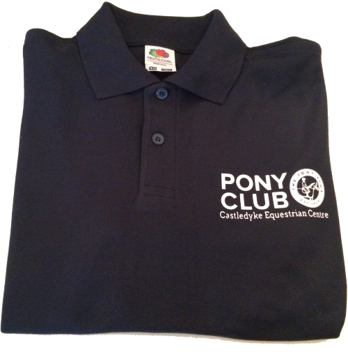 "Childrens ""Castledyke Equestrian Centre"" Navy Blue Polo"