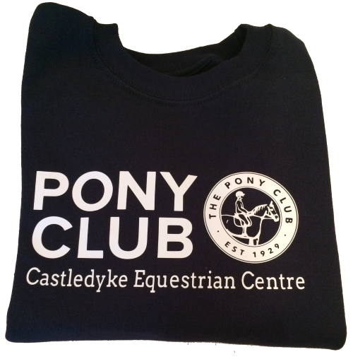 "Childrens' ""Castledyke Equestrian Centre"" Pony Club Navy Sweatshirt"