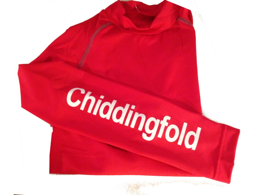 Childrens Chiddingfold Pony Club Red Base Layer