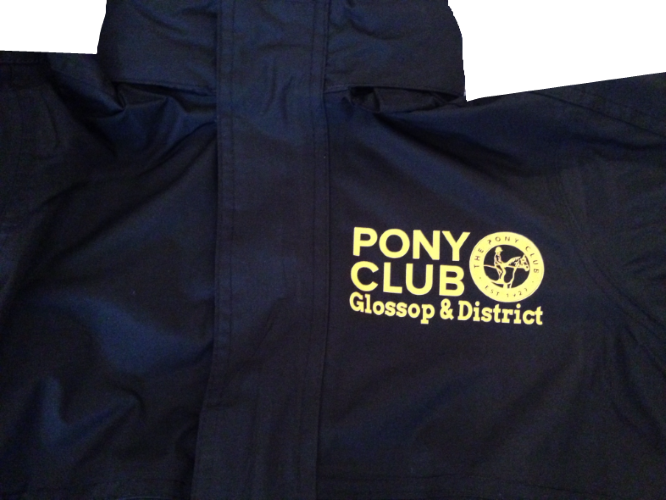 Childrens Glossop and District Pony Club Black Regatta Dover jacket
