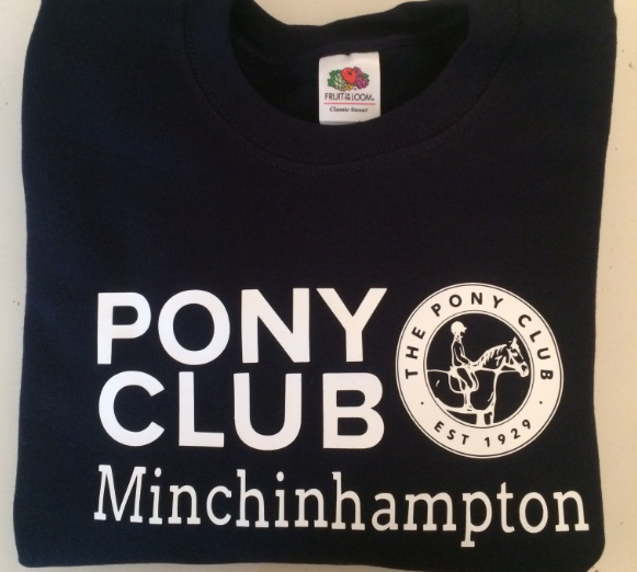 Childrens' Minchinhampton Pony Club Navy Sweatshirt