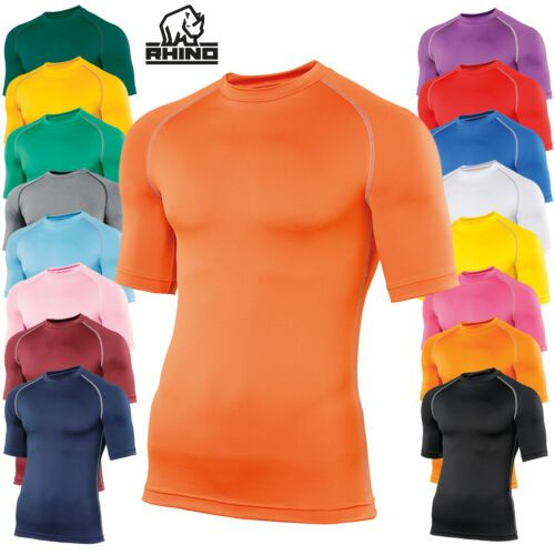 Childrens Printed SHORT SLEEVE  Rhino Base Layers Many Colours