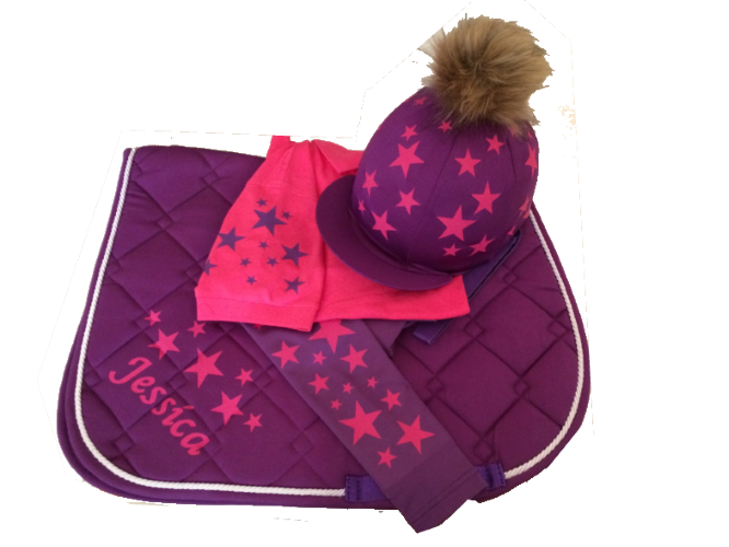 Childrens purple/Hot Pink Base Layer Cross Country Colours