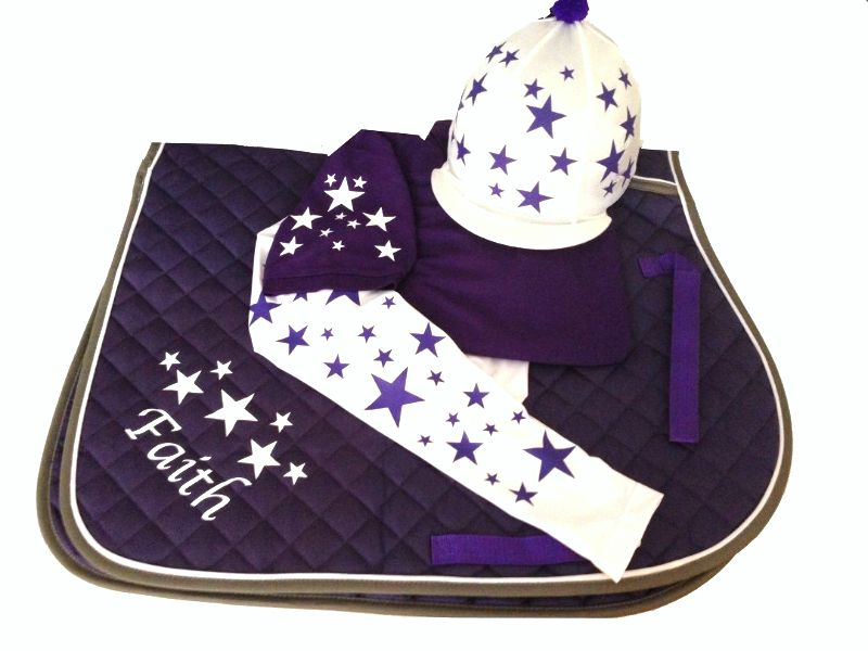 Childrens Purple White Base Layer Cross Country Colours