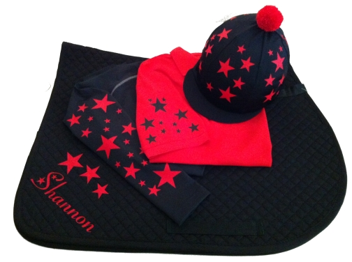 Childrens Red/Black Base Layer Cross Country Colours