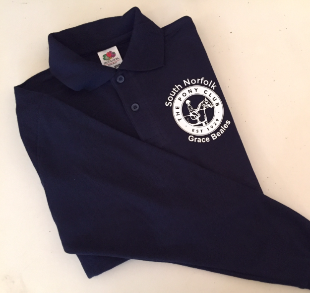 Childrens South Norfolk Long Sleeve Navy Polo