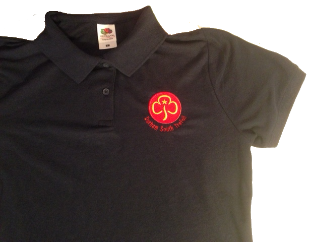 Durham South Trefoil Navy Polo Shirt