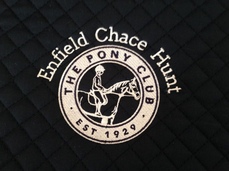 Enfield Chace Hunt Pony Club Navy Saddlecloth