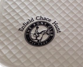 Enfield Chace Hunt Pony Club White Dressage Saddlecloths