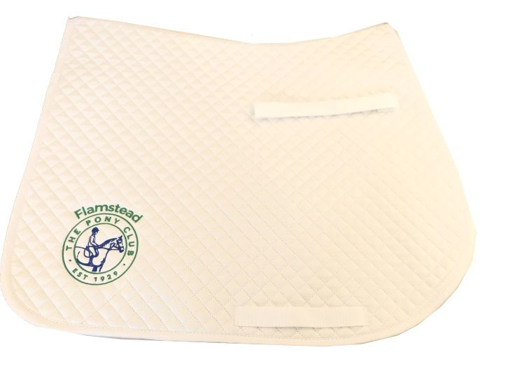 Flamstead Pony Club White  Saddlecloth