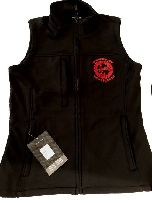 Herts Hunt  Pony Club  Ladies Black Softshell Gilets