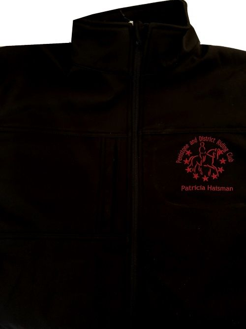 Ladies Black  Penistone and District Riding Softshell Jacket