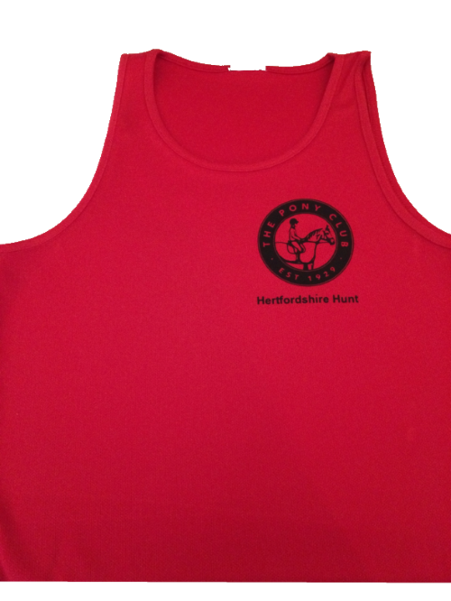 Ladies Fit Herts Hunt Pony Club Red Tet cool vest JC015