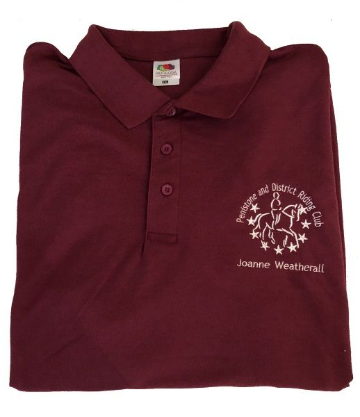 Ladies Fit  Penistone and District RC Polo Shirt - Burgundy